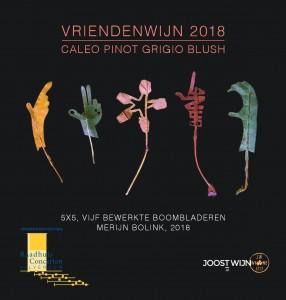 Vriendenwijn etiket 2018